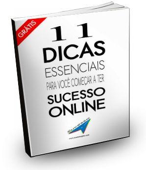 Baixe AGORA este eBook Gratuito com 11 dicas de Profissionais que já fazem Sucesso na Internet.  http://sucessoajato.com/ebook-11-dicas-para-voce-conquistar-o-sucesso/