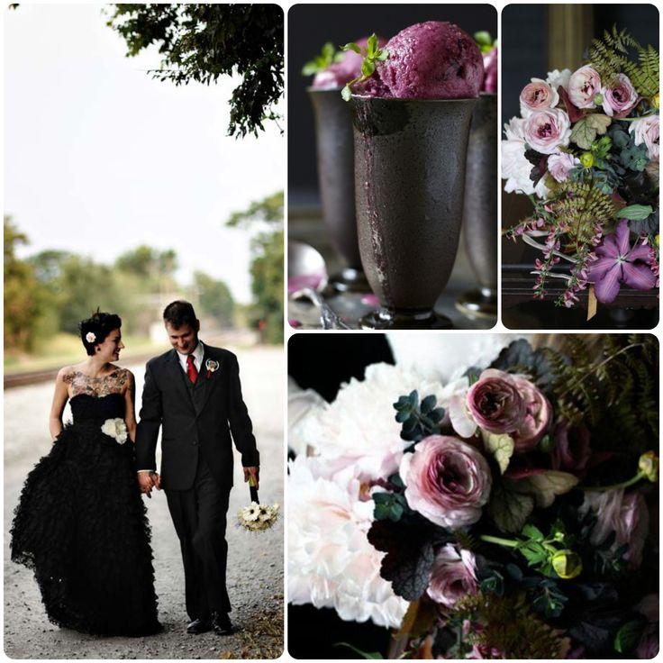 GOTH WINTER WEDDING | Images via: Rock 'n Roll Bride // 100 Layer Cake // Tumblr ...