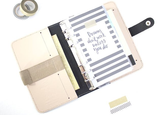 My Filofax in Patent Nude, personal size. Great way to stay organised. Love this planner!