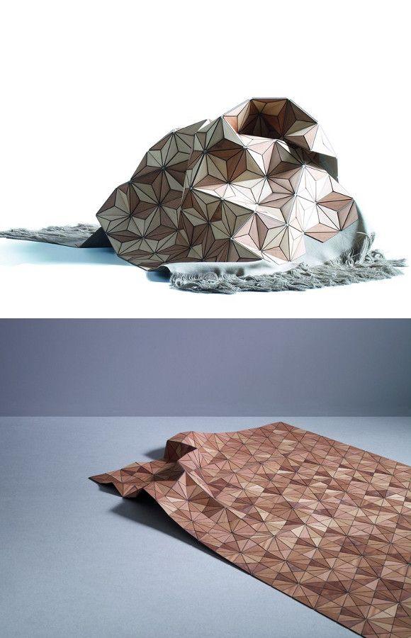Wooden #rug WOODEN CARPET by Boewer   #design Elisa Strozyk #wood