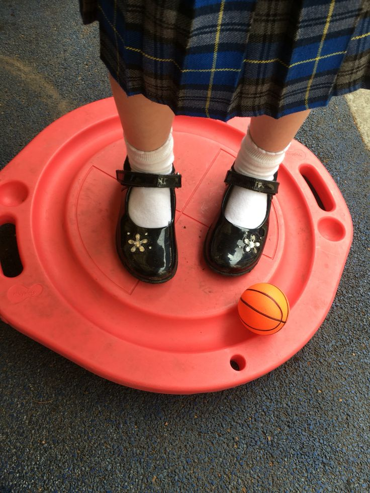 Great for co-ordination and balance! You have to make the ball roll around the board in a circle X