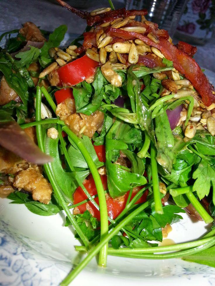 MollyRose'n'Honey: Spændende sprød salat med rucola og persille