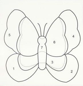 molde patchwork quilting borboleta simples
