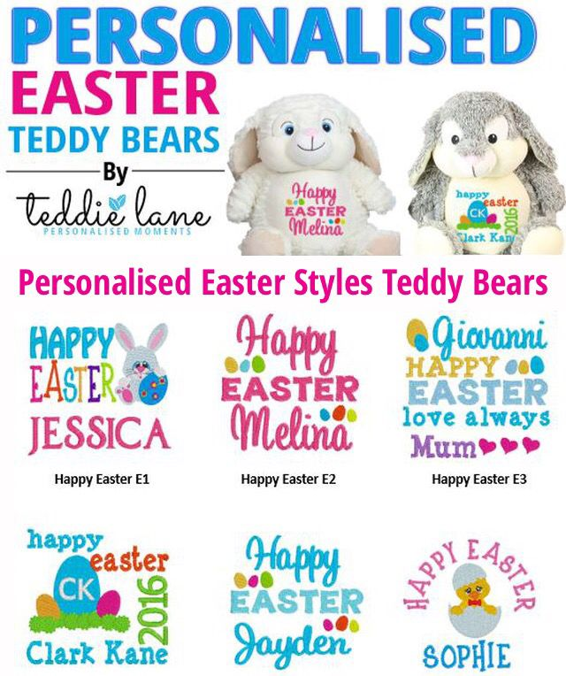 Eater Gifts @ www.shop.teddielane.com.au #easter #eastergifts #bunny