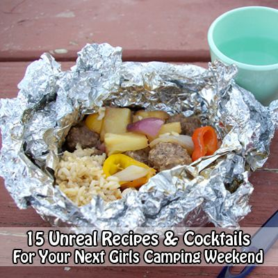 Heading on a girls weekend camping trip? You need this - 15 Unreal Recipes & Cocktails For Your Next Girls Camping Weekend #camping #recipes
