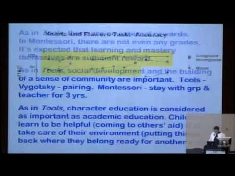 Adele Diamond PhD Discusses executive functions and Montessori education at the Virginia Tech Carilion Research Institute on December 1, 2011