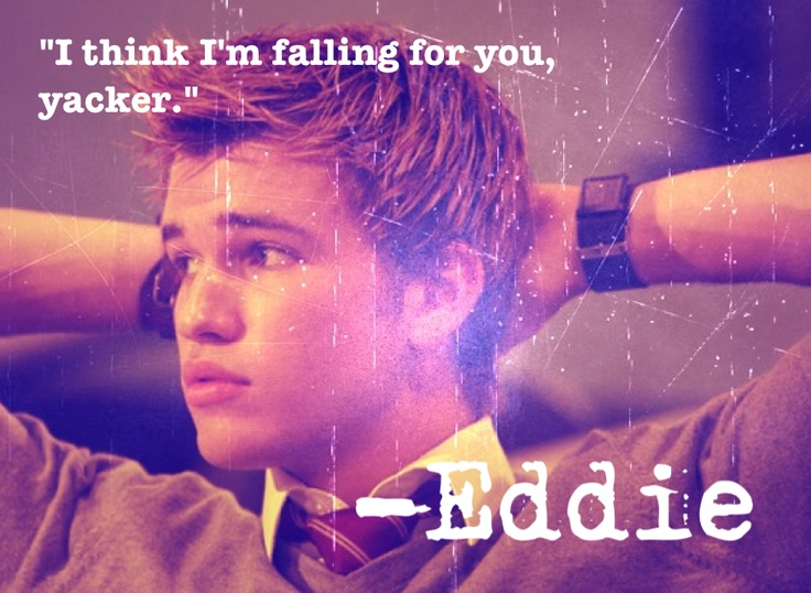 Eddie Miller - House of Anubis. Love how he calls her Yacker:) they must get back together!!