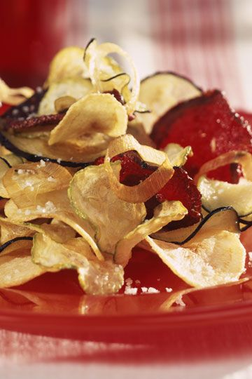 Chips de berenjena con miel
