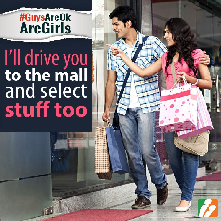 8) Would a guy happily go shopping with his spouse? Yes/ No and WHY? #GuysAreOkAreGirls