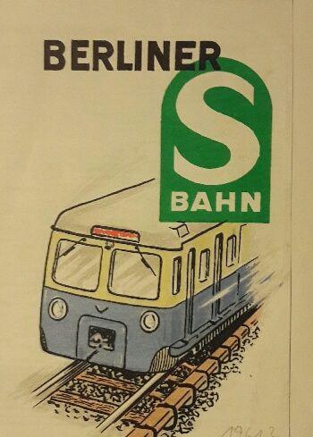 Liniennetz der Berliner S-Bahn (Das Erscheinungsjahr ist leider unbekannt)