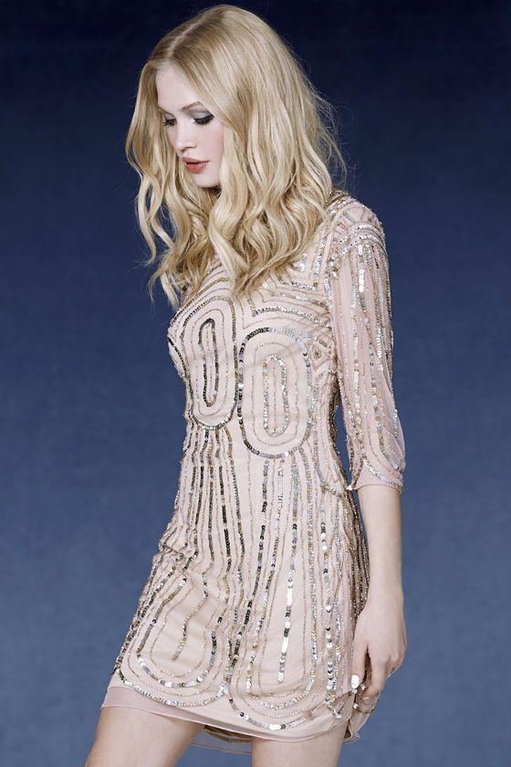 blush sequin dress