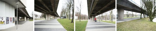 Slinge metro station and the first POSAD zebra