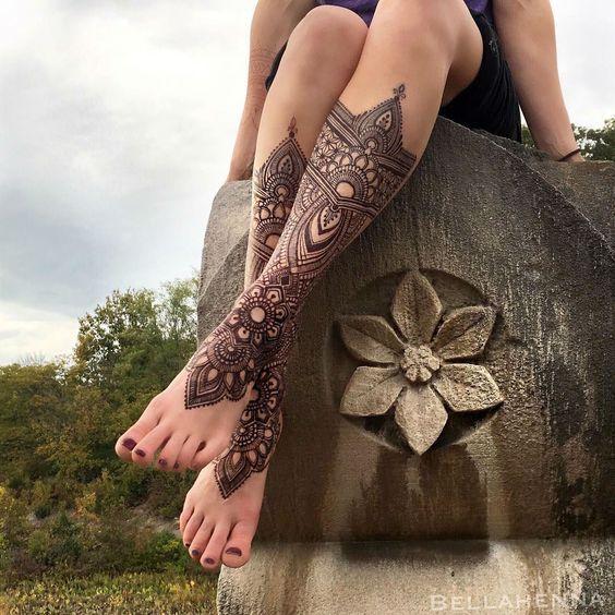 Tatuajes De Henna En Las Piernas (8)  – Tatuajes de henna