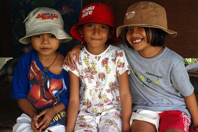 Three little girls in Bali