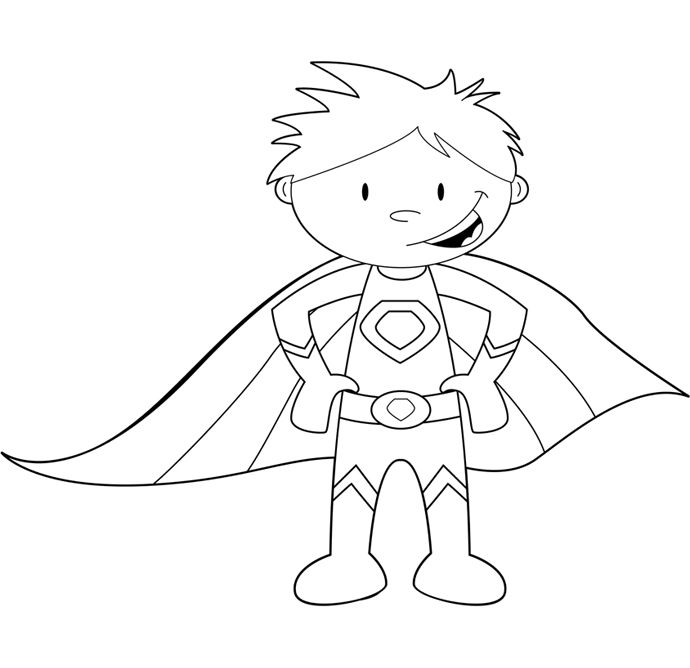 child superhero coloring pages - photo#1