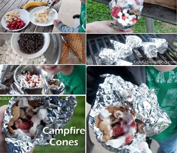 Camping during the holidays? These Campfire Cones look just delicious, a great treat for the whole family. The easy instructions are here. http://kidsactivitiesblog.com/11527/camp-fire-food
