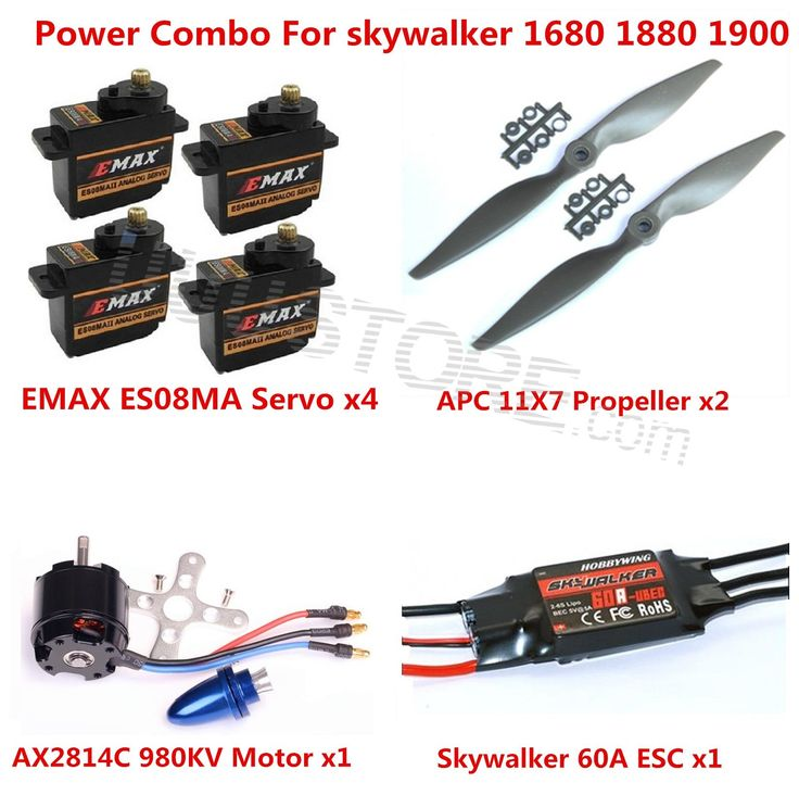 105.00$  Know more - http://aimgw.worlditems.win/all/product.php?id=32624204496 - Power Combo Kit For Skywalker 1680 1880 1900 EPO RC Airplane Motor ESC Props and Servos