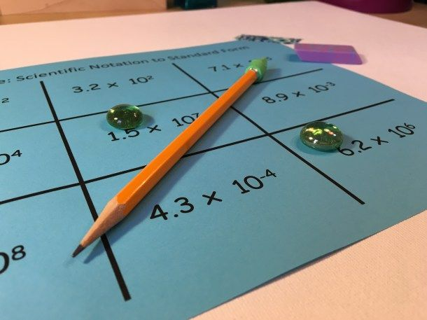 This Tic Tac Toe Scientific Notation activity gets students talking about really big, and really small number. Check out all 10 activities to Make Practicing Scientific Notation Awesome