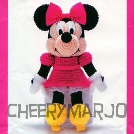 Crochet doll amigurumi PDF pattern - Minnie Mouse