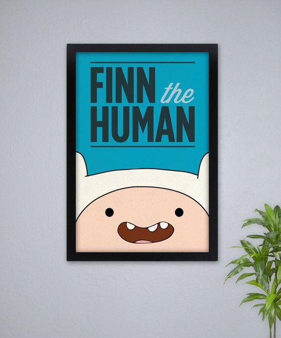 Adventure Time Print  // Finn the Human // 16 x 24 Poster via Etsy