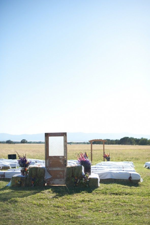 California Ranch Wedding: Michelle   Casey..i think this one is perfect when for your ceremony and reception style!