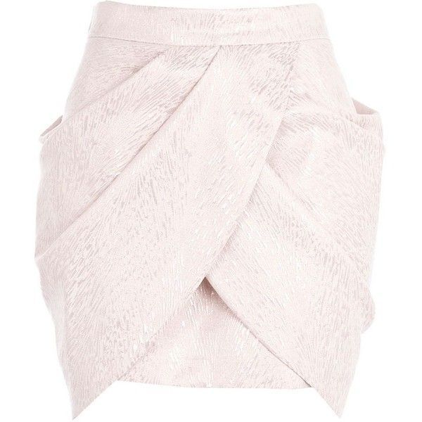 River Island Pink draped tulip mini skirt found on Polyvore(1)