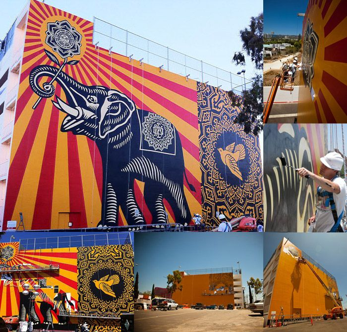 Shepard Fairey – Peace Elephant Print « Winter Frost Collection