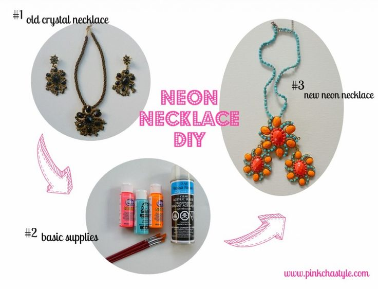 up-cycling desi jewellery for the neon trend!: Neon Necklaces, Diy Necklaces, Diy'S, Jewellery Diy, Neon Trends