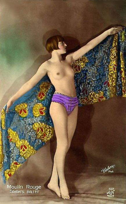 A.N. (Alfred Noyer) Studio Paris Postcard, Moulin Rouge, Spark's Ballet