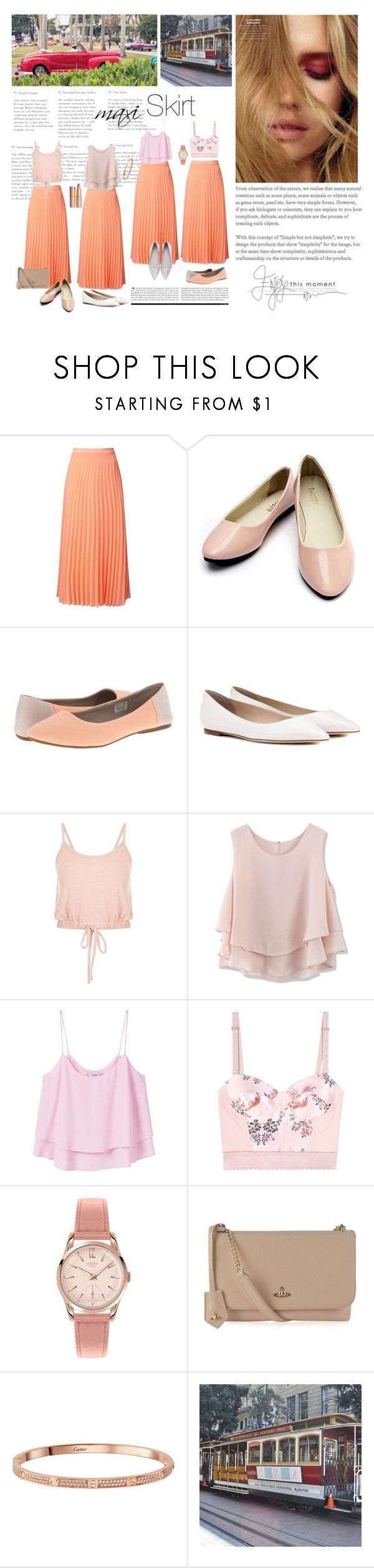 """Coral Maxi Skirt Looks Ideas"" by fashionstudiolondon ❤ liked on Polyvore featuring Miss Selfridge, sanuk, Jimmy Choo, Chicwish, MANGO, STELLA McCARTNEY, Henry London, Vivienne Westwood, Sophia Webster and skirt"