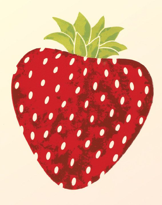 Print of an original illustration featuring a bright red summer strawberry.  • • •  Paper: lightly textured cardstock, matte, acid free, pale yellow  Archival quality print of an original artwork. Print will come signed and dated by me (the artist).  Prints ship via USPS. Prints ship flat in a clear plastic sleeve with a stiff cardboard backing for protection during transit.  • • • Want a different color or size? I make my own prints, so most items can be customized. Contact me and Ill…