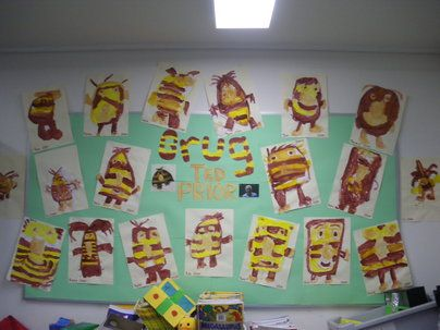 Grug Ted Prior Display, classroom display, class display, Story, book,  reading, Grug, painting, Australian,Early Years (EYFS), KS1 & KS2 Primary Resources