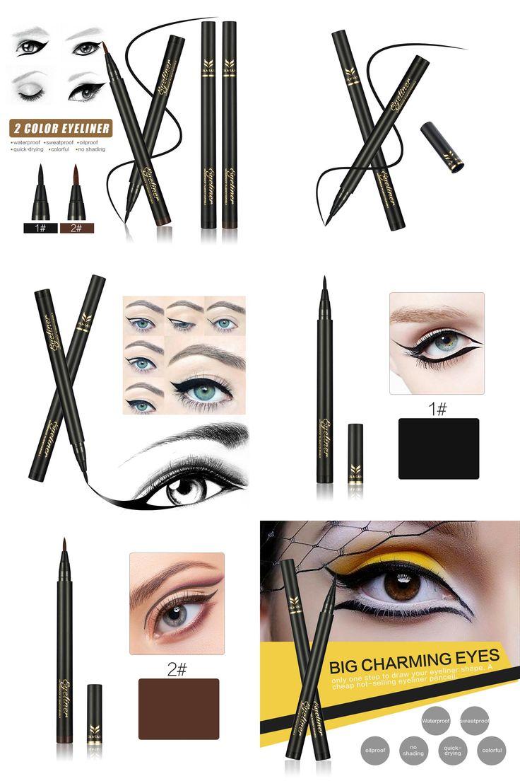 [Visit to Buy] Black Brown Eyeliner Pencil Waterproof Make Up Eyeliner Liquid Makeup Eye Liner Pen Brand HUAMIANLI Cosmetic #Advertisement