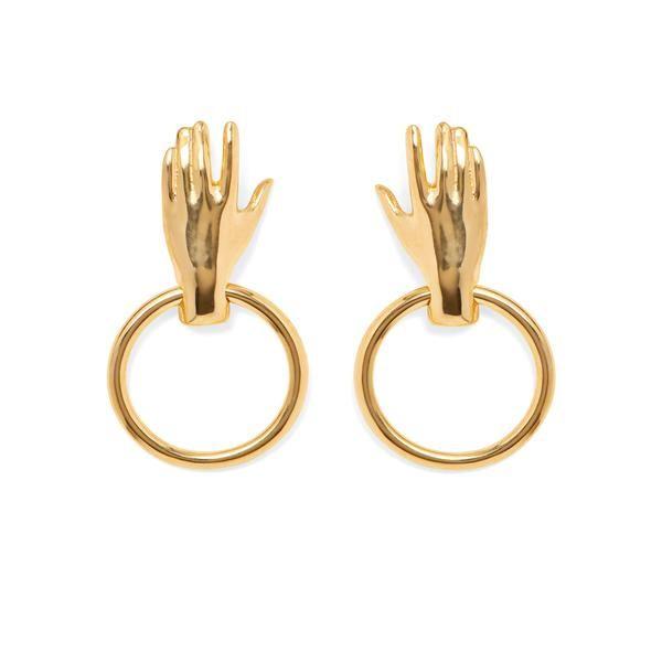 Lady Grey Hoop Earrings