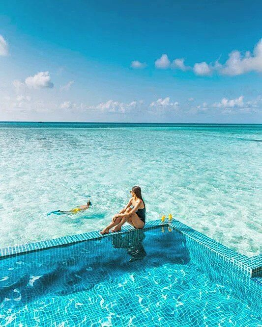 The Maldives Islands | ClubMed Finolhu Villa #OMaldives #travel #holiday #relax #sun #feel #wanderlust #vacation #blogger #bliss #maldives #pool #paradise #nature_perfection #nofilters #girl #exotic #blue #dreamy #couple #tranquility #travelblog #honeymoon #summertime #chill #loveit #nature #summer #perfect