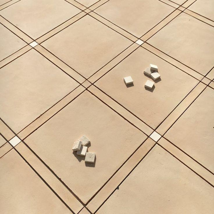"""Pavimento in cotto naturale #DomenicoMori con tozzetti in argilla bianca. Natural baked clay tiles floor #MoriDomenico with small white clay tiles. ~ www.domenicomori.com ~ Interior Design Studio : """"Design ?"""" Arch. / Ph. : Roberto Cicchine'"""