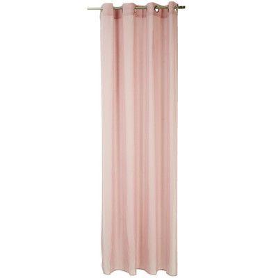 Voilage à oeillets Dolly rose, dim. 140x240 cm, polyester.