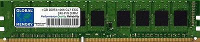 1GB DDR3 1066MHz PC3-8500 240-PIN ECC UDIMM RAM MEMORY FOR SERVERS/WORKSTATIONS