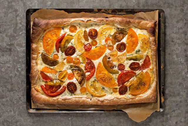 Simplicity equals perfection in this easy but delicious tart that's ideal for relaxed summer entertaining. Recipe: Tomato Tart   - CountryLiving.com