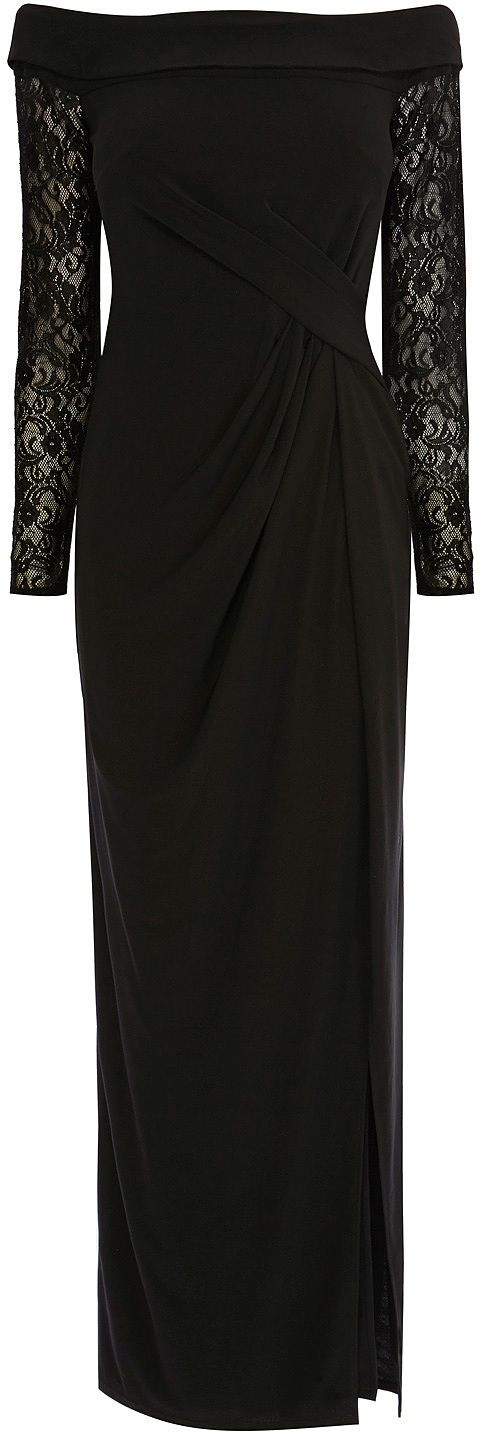 Womens black esther bardot jersey dress from Coast - £119 at ClothingByColour.com
