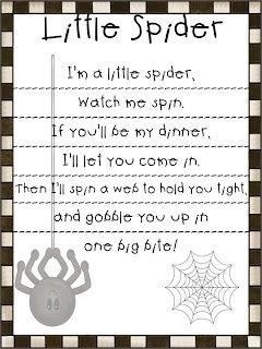 i'm a little spider poem for spider week!