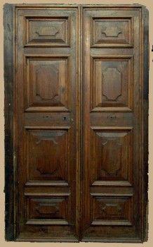Porta antica originale in noce della seconda metà del 1600