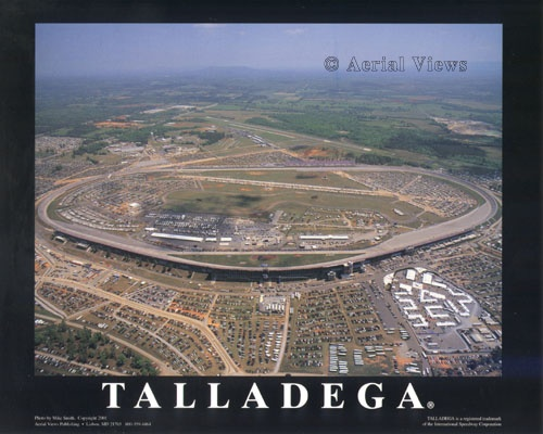 Talladega Largest Track And One Very Long Backstretch I Know Because I Walked Across It Heading Toward The Pits Talladega Nascar Talladega Superspeedway
