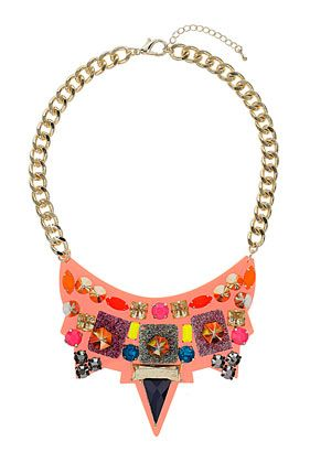 Nov 2013-Curb Chain Perspex Collar - Jewelry  - Bags & Accessories