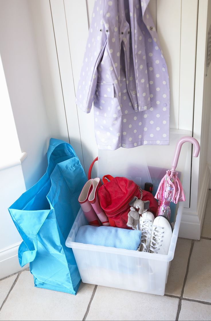 It seems counterintuitive to your battle against clutter to create a place where you leave piles of stuff. A dedicated spot for everyday items is the stopgap that prevents your entire home from eventually looking like a tornado hit it..