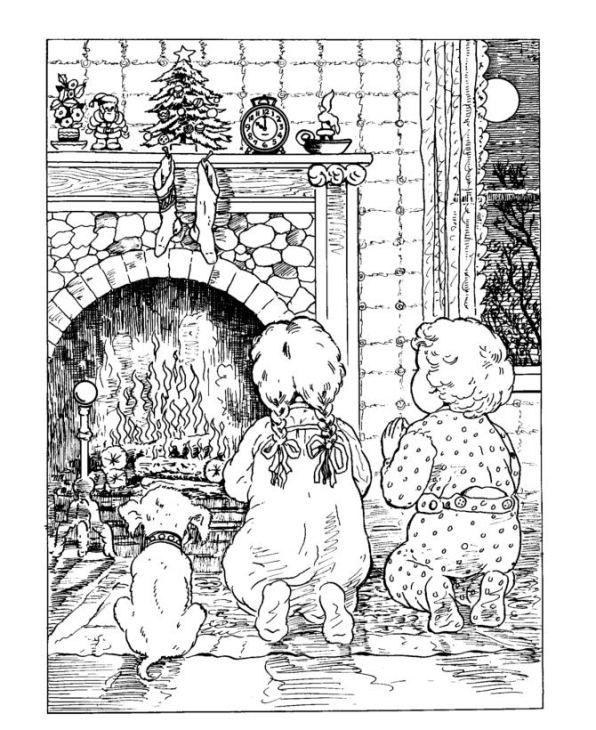 Kerstmis (traditioneel) kleurplaat