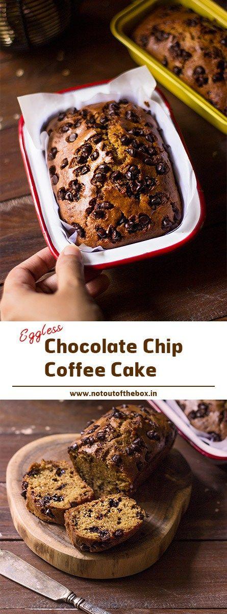 Eggless Chocolate Chip Coffee Cake Recipe Breakfast