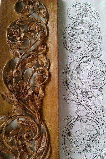 Hermosa talla en madera