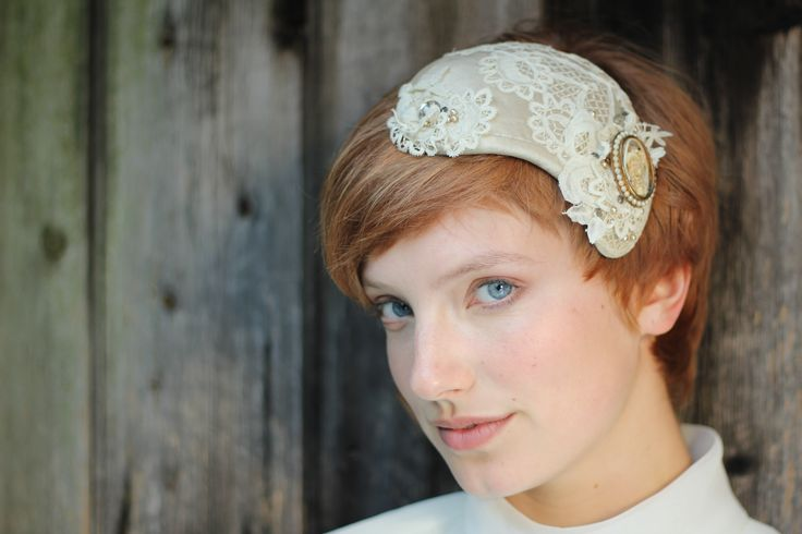 Vintage Bride, Lace and Pearl Headdress. http://www.theheadmistressboutique.com/ https://www.etsy.com/uk/shop/headmistressboutique?ref=si_shop