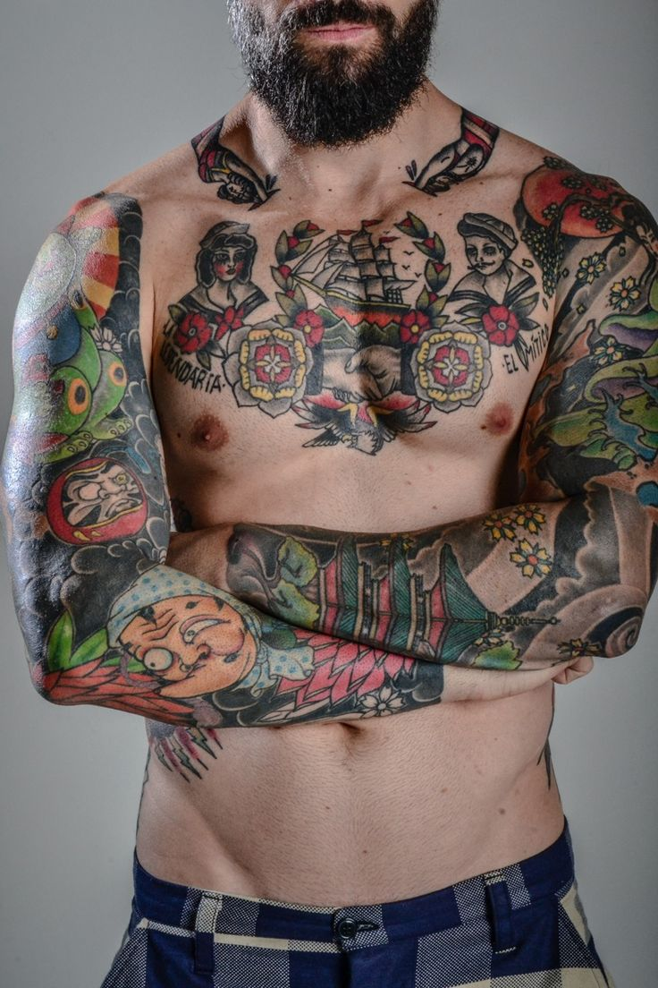 80 crazy and amazing tattoo designs for men and women desiznworld -  There Is Always A Period When A Man With A Beard Shaves It Off He Returns Headlong To His Beard